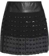 Belstaff Norwood Embellished Wool-Blend Silk Crepe De Chine Mini Skirt