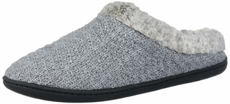 Dearfoams Women's Sweater Knit Clog with Pile Cuff Slipper