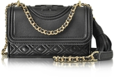 Tory Burch Fleming Black Leather Micro Shoulder Bag