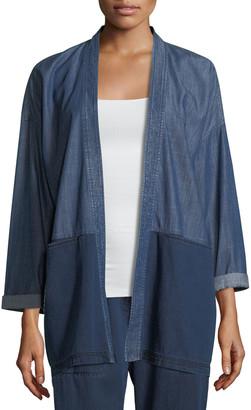 Eileen Fisher Tencel® Organic Cotton Denim Kimono Jacket