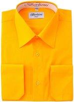 Berlioni Men's Dress Shirt - Convertible French Cuffs - , Large, 32/33 Sleeve
