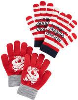 Osh Kosh 2-Pack Santa Gloves