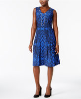 JM Collection Printed Chain-Neck Dress, Created for Macy's