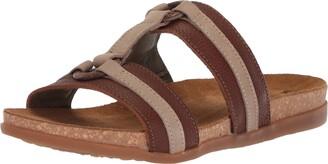 El Naturalista Women's NF49 Soft Grain-Pleasant Wood-Piedra/Zumaia Flat Sandal 36 Medium EU (6 US)