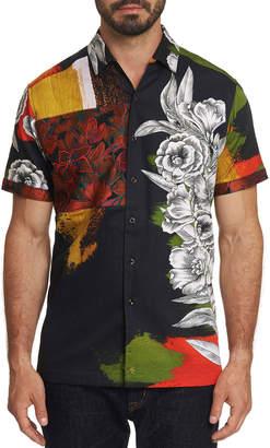 Robert Graham Men's The Floral Skull Short-Sleeve Button-Down Shirt
