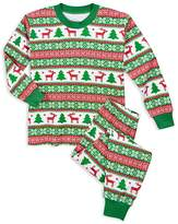 Sara's Prints Unisex Fair Isle–Print Holiday Pajama Set - Little Kid