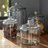Crate & Barrel Heritage Hill Glass Jars with Lids