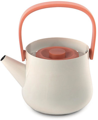 BergHOFF International Ron Teapot with Strainer - White/Orange