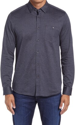 Ted Baker Wonyeer Slim Fit Button-Up Pique Shirt
