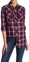True Religion Elongated Georgia Flannel Shirt
