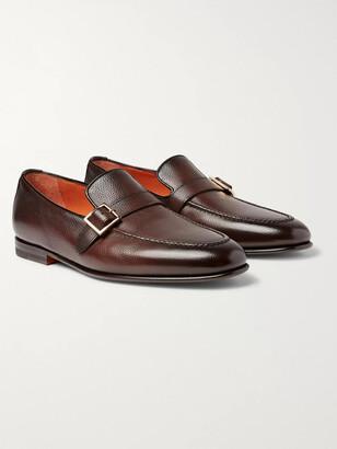 Santoni Burnished Full-Grain Leather Loafers - Men