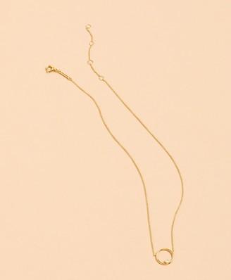 Brooks Brothers Demi-Fine Crystal Circle Pendant Necklace
