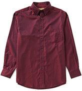 Roundtree & Yorke Gold Label Big & Tall Non-Iron Long-Sleeve Herringbone Sportshirt