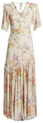 Needle & Thread Floral Diamond Elsa Maxi Dress
