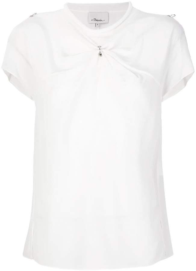 3.1 Phillip Lim ruched fitted blouse