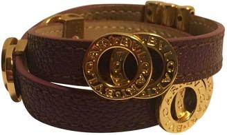 Bvlgari Bulgari Bulgari Purple Leather Bracelets