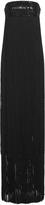 Michael Kors Paillette Fringe Strapless Gown