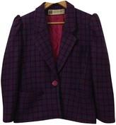 Pierre Balmain Purple Wool Jacket for Women Vintage