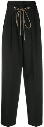 Pt01 Belted Wide-Leg Trousers