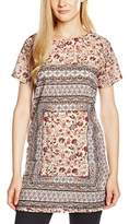 New Look Women's Andrea Floral Print Short Sleeve Tunic Top