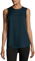 Theory Silk Modern Sleeveless Top, Navy