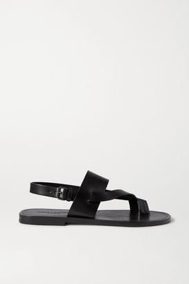Saint Laurent Culver Nu Pieds Leather Sandals - Black