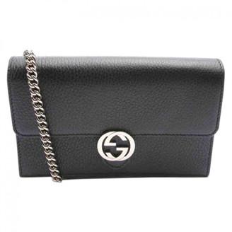 Gucci Interlocking Black Leather Handbags
