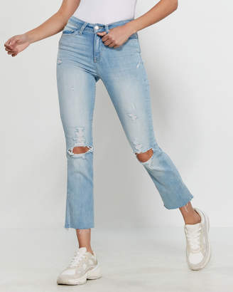 Flying Monkey Light Wash High-Rise Sharkbite Jeans