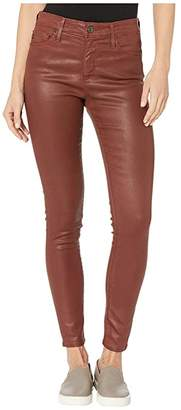 AG Adriano Goldschmied Farrah Skinny Ankle in Vintage Leatherette Light Rich Crimson (Vintage Leatherette Light Rich Crimson) Women's Casual Pants