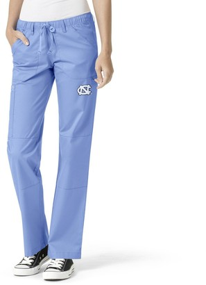 Women's Carolina Blue North Carolina Tar Heels Straight Leg Scrub Cargo Scrub Pants