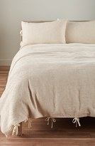 Nordstrom Waffle Knit Washed Cotton & Linen Duvet Cover