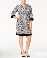 Jessica Howard Plus Size Sequined Damask Dress