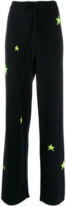 Chinti and Parker Cashmere Fluorescent Star Joggers