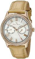 Lucien Piccard Women's LP-10334-RG-02-BG Brela Analog Display Japanese Quartz Beige Watch