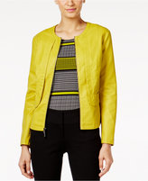 Alfani Faux-Leather Jacket, Only at Macy's