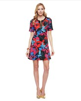 Juicy Couture Ponte Matisse Floral Dress
