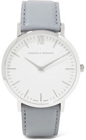 Larsson & Jennings Lugano Leather And Stainless Steel Watch - Light gray