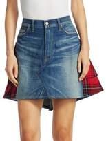Junya Watanabe Denim Tartan Plaid Skirt