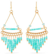 Kenneth Jay Lane Gold-Plated Beaded Earrings