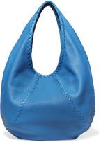 Bottega Veneta Intrecciato Textured-leather Shoulder Bag - Blue
