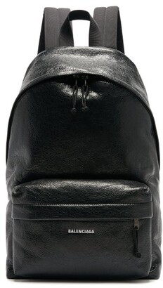 Balenciaga Explorer Logo-applique Backpack - Mens - Black
