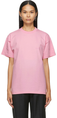 Balenciaga Pink Large Fit Logo T-Shirt