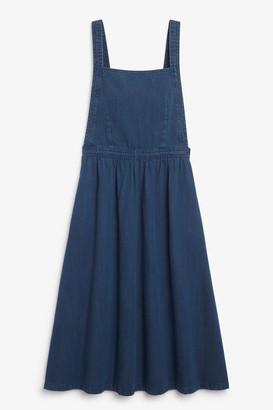 Monki Denim dungaree dress