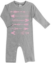 Urban Smalls Light Gray & Pink Arrows Playsuit - Infant