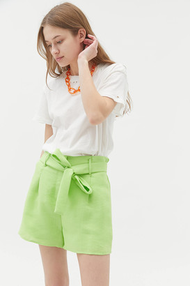 J.o.a. Linen Paperbag Short Lime Green