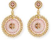 Jose & Maria Barrera Decoupage Clip-On Earrings