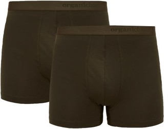 Organic Basics - Pack Of Two Soft Touch Boxer Briefs - Mens - Khaki