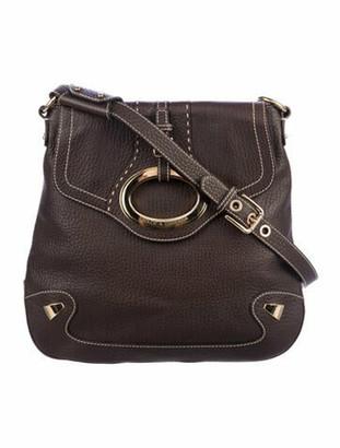 Dolce & Gabbana Pebbled Leather Shoulder Bag Brown