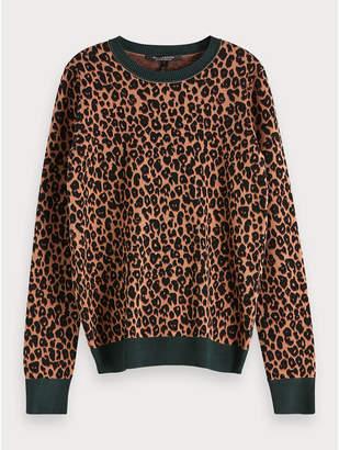 Maison Scotch Leopard Pullover - Size XS