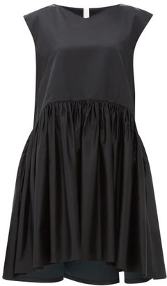 Merlette New York Estreta Cotton-blend Satin Dress - Black